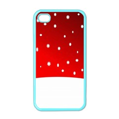 Christmas Background  Apple iPhone 4 Case (Color)