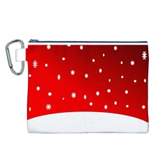 Christmas Background  Canvas Cosmetic Bag (L)