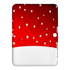 Christmas Background  Samsung Galaxy Tab 4 (10.1 ) Hardshell Case