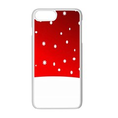Christmas Background  Apple Iphone 7 Plus White Seamless Case