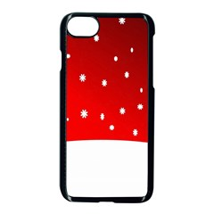 Christmas Background  Apple Iphone 7 Seamless Case (black)
