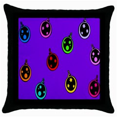 Christmas Baubles Throw Pillow Case (Black)