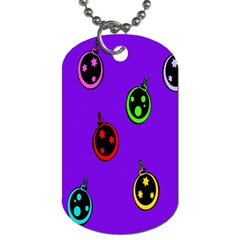 Christmas Baubles Dog Tag (One Side)