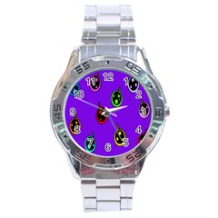 Christmas Baubles Stainless Steel Analogue Watch