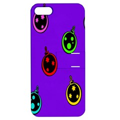Christmas Baubles Apple iPhone 5 Hardshell Case with Stand