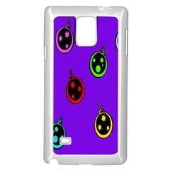 Christmas Baubles Samsung Galaxy Note 4 Case (White)