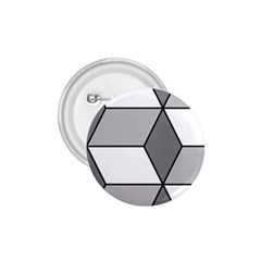 Diamond Cubes Gray 1 75  Buttons