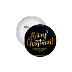 Christmas Gold Black Frame Noble 1.75  Buttons
