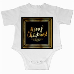 Christmas Gold Black Frame Noble Infant Creepers