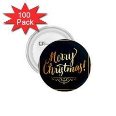 Christmas Gold Black Frame Noble 1.75  Buttons (100 pack)