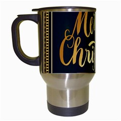 Christmas Gold Black Frame Noble Travel Mugs (White)
