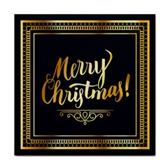 Christmas Gold Black Frame Noble Face Towel
