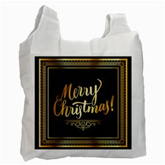Christmas Gold Black Frame Noble Recycle Bag (Two Side)