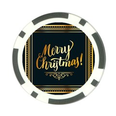 Christmas Gold Black Frame Noble Poker Chip Card Guard (10 pack)