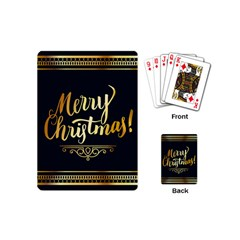 Christmas Gold Black Frame Noble Playing Cards (Mini)