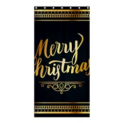 Christmas Gold Black Frame Noble Shower Curtain 36  x 72  (Stall)