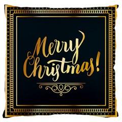 Christmas Gold Black Frame Noble Large Cushion Case (One Side)