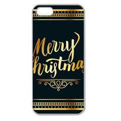 Christmas Gold Black Frame Noble Apple Seamless iPhone 5 Case (Clear)