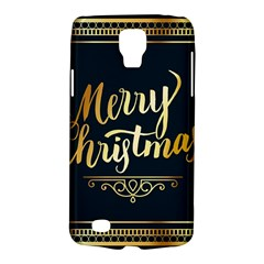 Christmas Gold Black Frame Noble Galaxy S4 Active