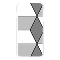 Diamond Cubes Gray Apple Seamless iPhone 6 Plus/6S Plus Case (Transparent)