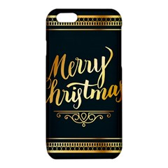 Christmas Gold Black Frame Noble iPhone 6/6S TPU Case