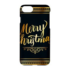 Christmas Gold Black Frame Noble Apple Iphone 7 Hardshell Case