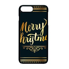 Christmas Gold Black Frame Noble Apple Iphone 7 Plus Seamless Case (black)