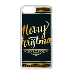 Christmas Gold Black Frame Noble Apple Iphone 7 Plus White Seamless Case