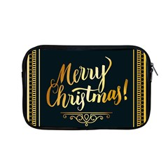 Christmas Gold Black Frame Noble Apple Macbook Pro 13  Zipper Case