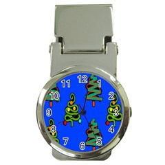 Christmas Trees Money Clip Watches