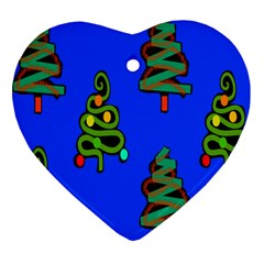 Christmas Trees Heart Ornament (Two Sides)