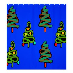 Christmas Trees Shower Curtain 66  x 72  (Large)