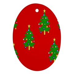 Christmas Trees Ornament (Oval)