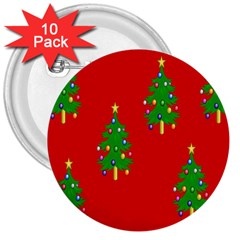 Christmas Trees 3  Buttons (10 pack)