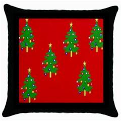 Christmas Trees Throw Pillow Case (Black)