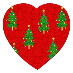 Christmas Trees Jigsaw Puzzle (Heart)