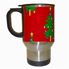 Christmas Trees Travel Mugs (White)