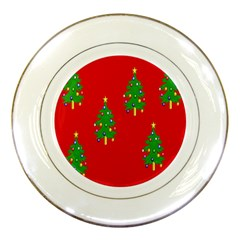 Christmas Trees Porcelain Plates