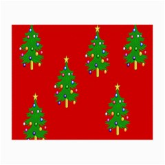 Christmas Trees Small Glasses Cloth (2-Side)
