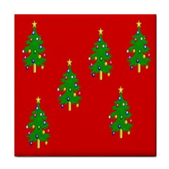 Christmas Trees Face Towel