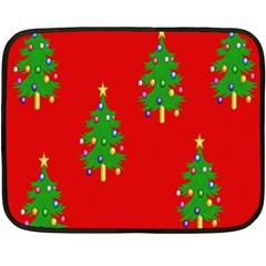 Christmas Trees Double Sided Fleece Blanket (Mini)