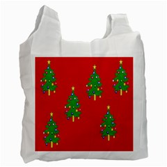 Christmas Trees Recycle Bag (One Side)