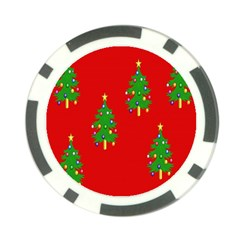 Christmas Trees Poker Chip Card Guard (10 pack)