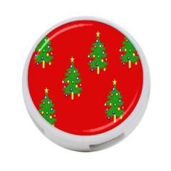 Christmas Trees 4-Port USB Hub (One Side)
