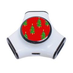 Christmas Trees 3-Port USB Hub