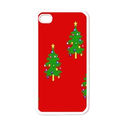 Christmas Trees Apple iPhone 4 Case (White)