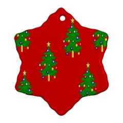 Christmas Trees Snowflake Ornament (Two Sides)