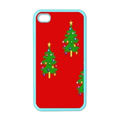 Christmas Trees Apple iPhone 4 Case (Color)