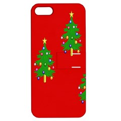 Christmas Trees Apple iPhone 5 Hardshell Case with Stand