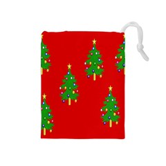 Christmas Trees Drawstring Pouches (medium)